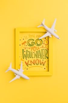 Si vous n'y allez jamais, vous ne saurez jamais, lettrage pour le concept de voyage
