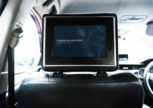 Siège arrière écran blanc sur la voiture