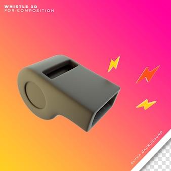 Sifflet 3d pour composition