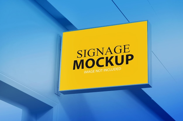 Signage mockup premium psd
