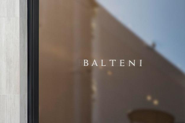 Signe de fenêtre de luxe de maquette de logo