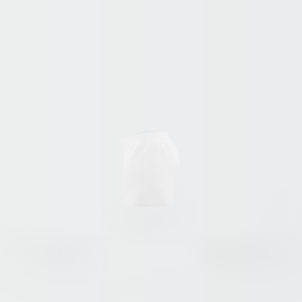 Silhouette blanche de short