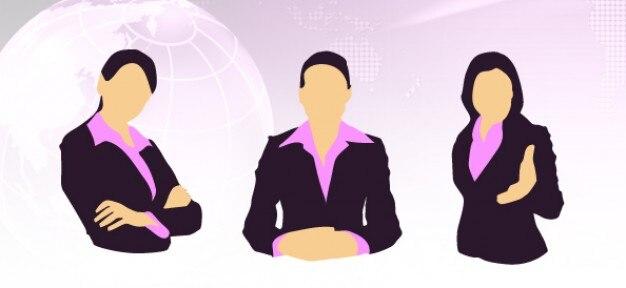 Silhouettes femmes d'affaires