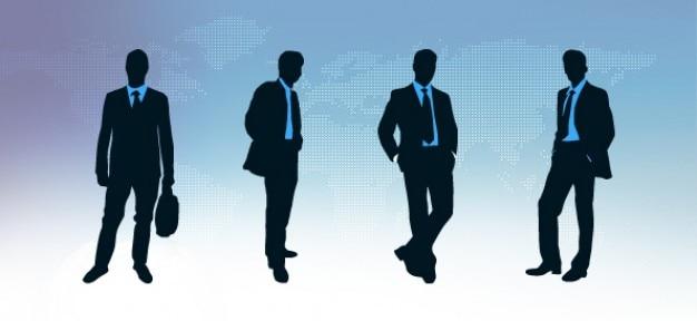 Silhouettes homme d'affaires mis en