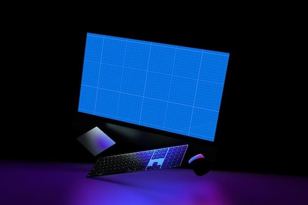 Site web sur la maquette noire
