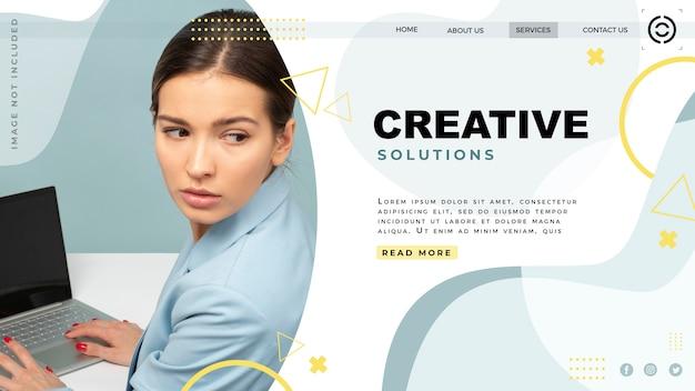 Site web de la page de destination du modèle