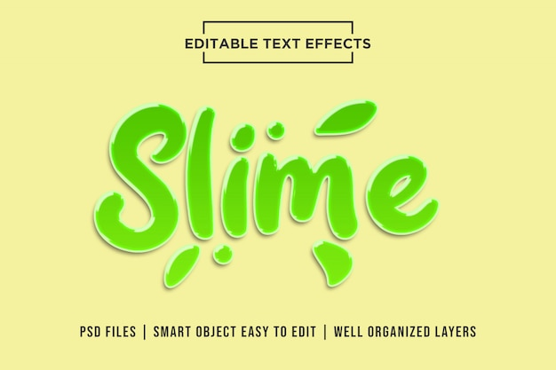 Slime style de texte 3d