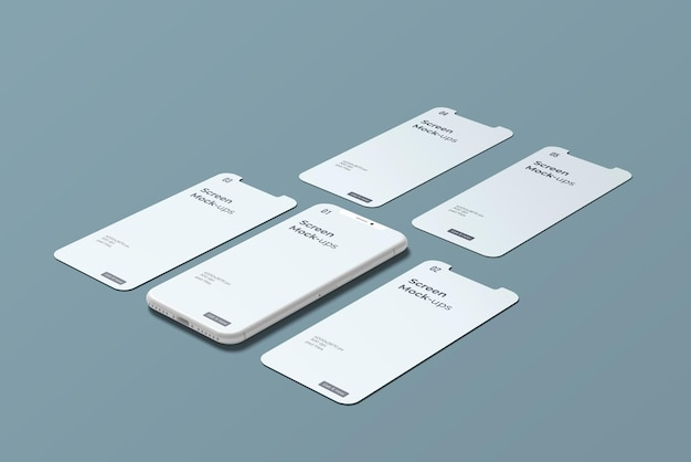 Smartphone en argile pour les maquettes d'écran d'application