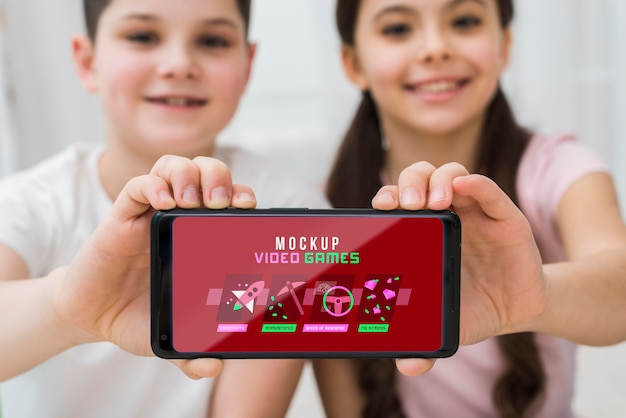 Smartphone avec jeux vidéo