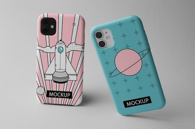 Smartphone avec maquette de conception minimaliste