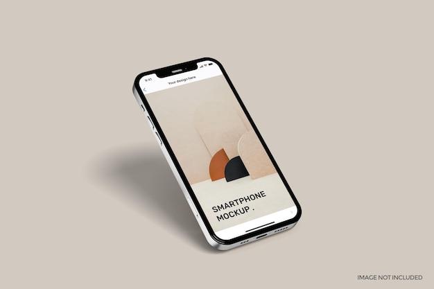 Smartphone avec maquette plein écran