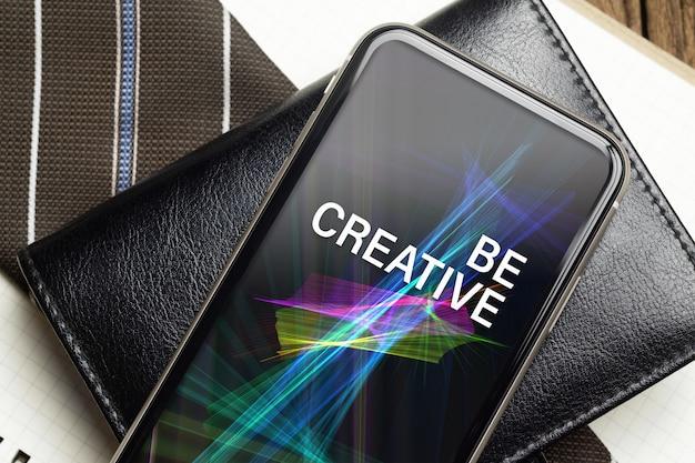 Smartphone maquette pour le concept de fond d'affaires.