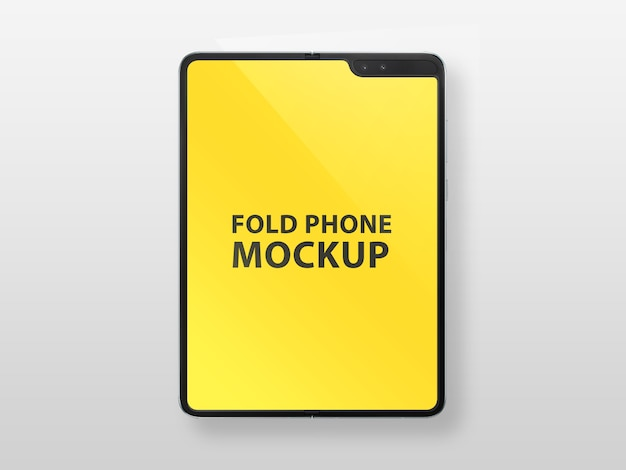 Smartphone pliable avec maquette d'affichage flexible