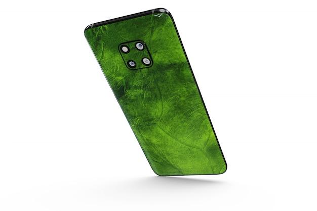 Smartphone skin maquette isolé