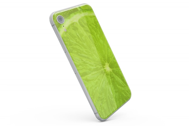 Smartphone skin maquette isolé