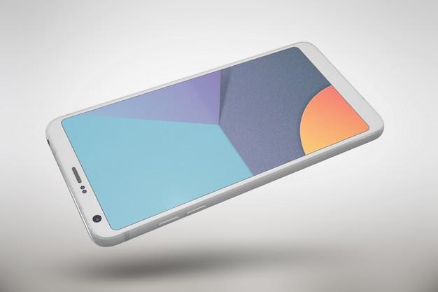 Smartphone surmonte la vue de dessus