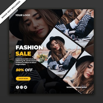 Social media post banner new fashion style woman