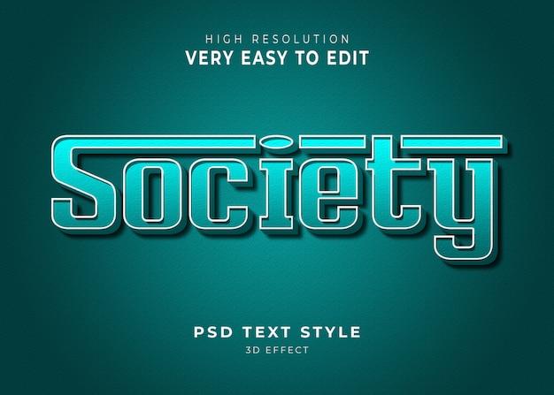 Société 3d effet de texte moderne