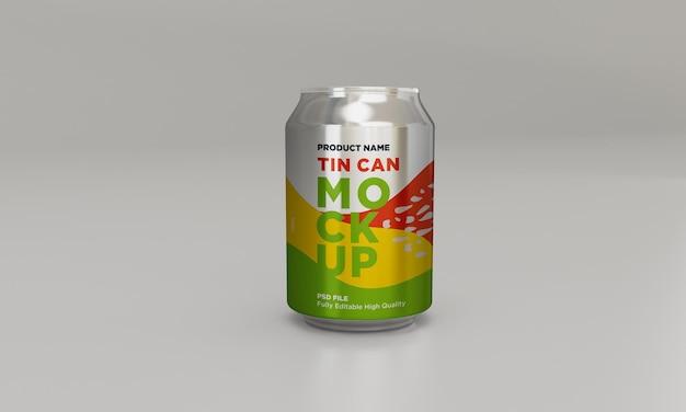 Soda en aluminium peut boire une maquette psd de boisson