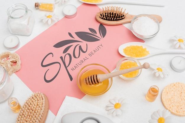 Soins de beauté au spa avec des produits naturels