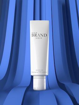 Soins de la peau hydratant produits premium cosmétiques avec un fond abstrait.