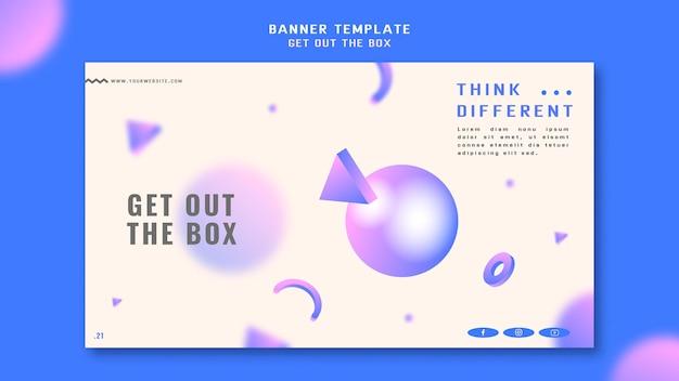 Sortez le modèle de bannière de concept de boîte