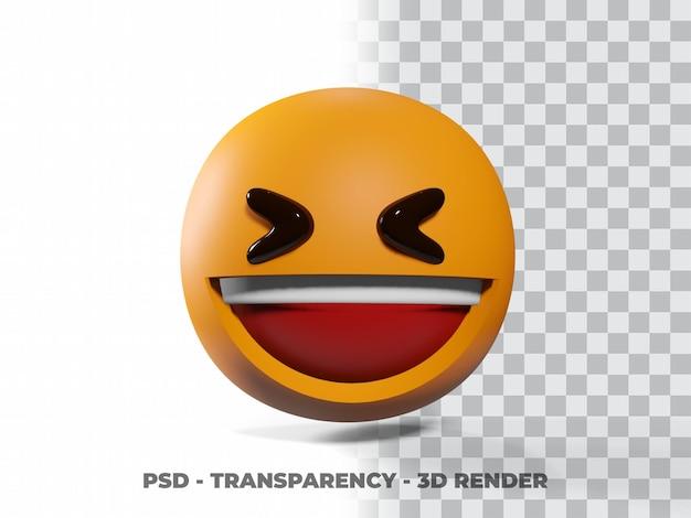 Sourire émoticne 3d avec fond transparent