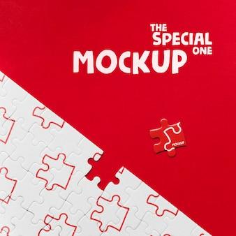 Soyez différent, soyez une pièce spéciale de la maquette du puzzle