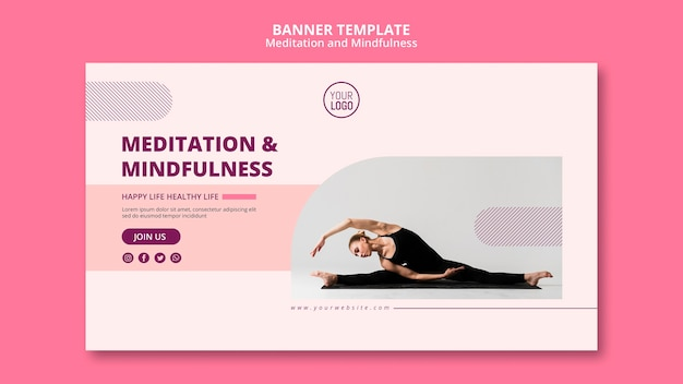 Soyez vous-même la bannière de méditation et de pleine conscience