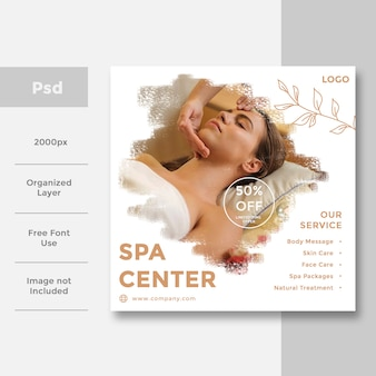 Spa & beauté conception de bannière publicitaire pour les médias sociaux