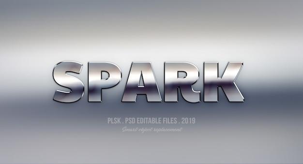 Spark effet de style de texte 3d