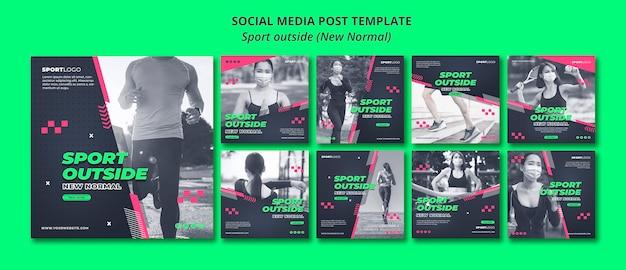 Sport extérieur concept post sur les médias sociaux
