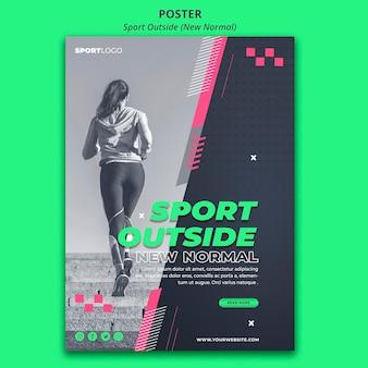 Sport à l'extérieur du style d'affiche