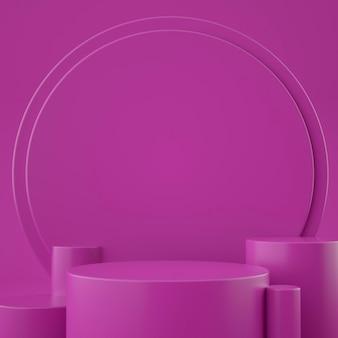 Stade géométrique 3d holographique pour le placement de produit avec fond