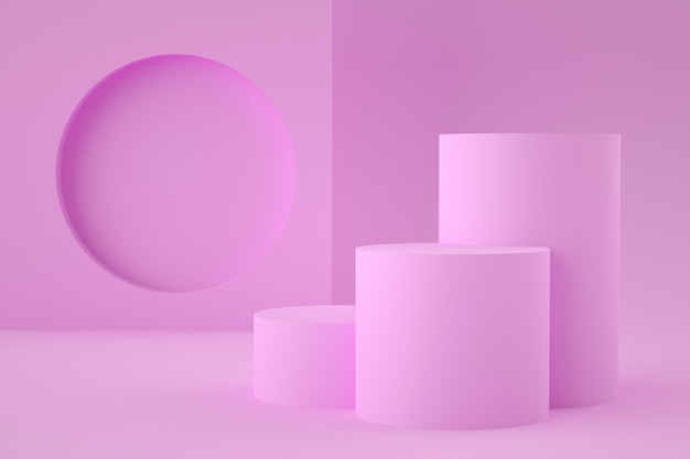 Stade géométrique 3d holographique pour le placement de produit