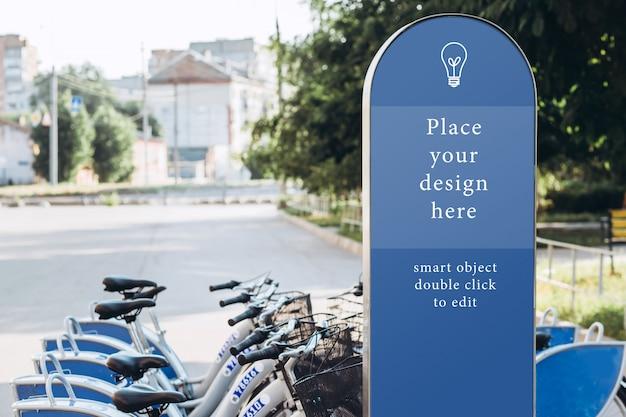 Station de location de vélos de ville, maquette