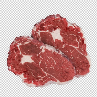 Steak rugissant isométrique