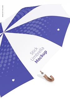 Stick umbrella mockup, close up