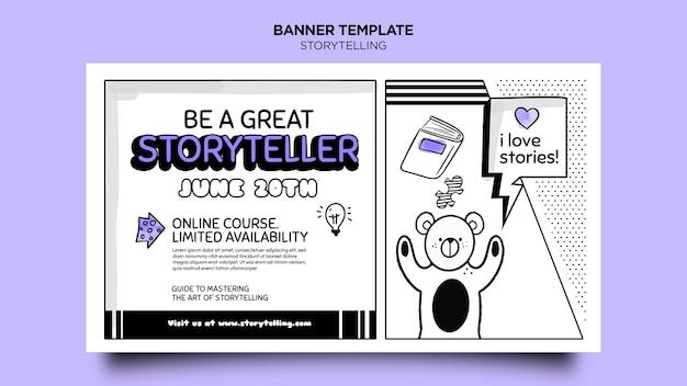 Storytelling pour le modèle de bannière marketing