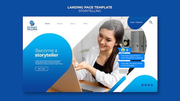Storytelling Pour La Page De Destination Marketing Psd gratuit