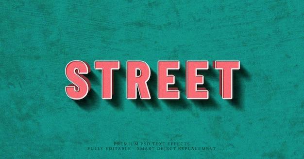 Street 3d effet de style de texte