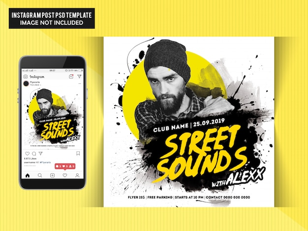 Street sounds party flyer