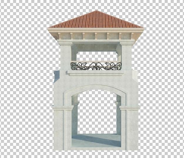 Structure de bâtiment de rendu 3d isolé
