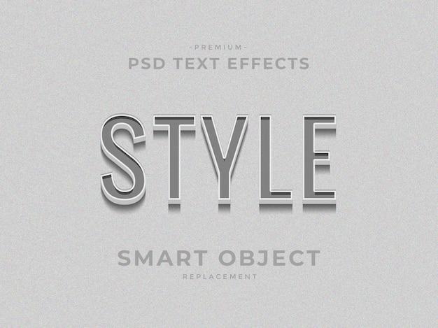 Style 3d effets de texte de style de couche photoshop