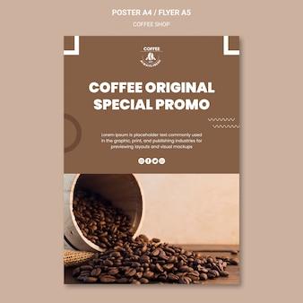 Style d'affiche de café