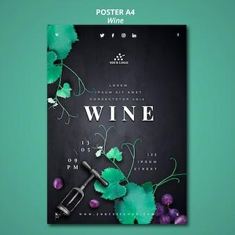 Style d'affiche de compagnie de vin
