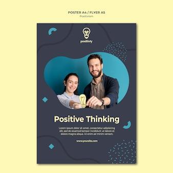 Style d'affiche de concept de positivisme