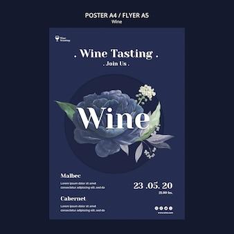 Style d'affiche d'événement de dégustation de vin