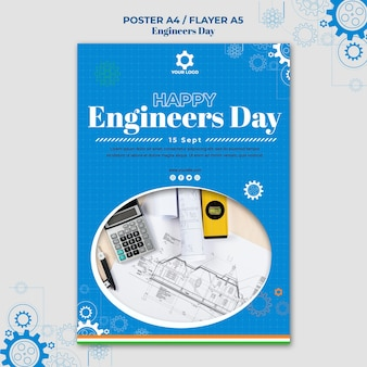 Style d'affiche de la journée des ingénieurs