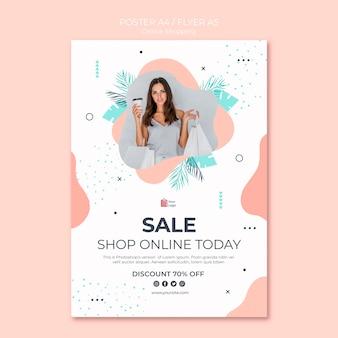 Style d'affiche de magasinage en ligne